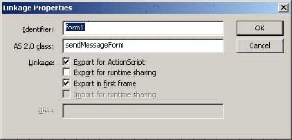 Linkage dialog